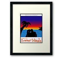 Summer Islands Tourism Framed Print