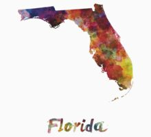 Florida US state in watercolor Kids Clothes