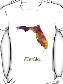 Florida US state in watercolor T-Shirt