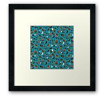 just birds teal blue Framed Print
