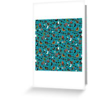just birds teal blue Greeting Card
