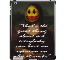 THE GREAT THING ABOUT ART iPad Case/Skin