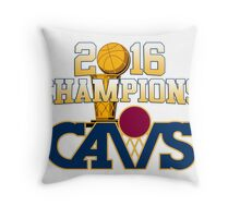 Cavs 2016 Champions Retro Logo Throw Pillow