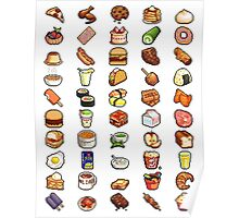 8Bit Pixel Food Poster