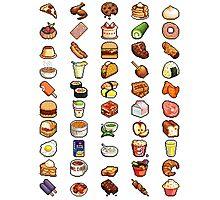 8Bit Pixel Food Photographic Print