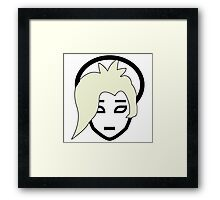 Overwatch Mercy colored hair simplistic Framed Print