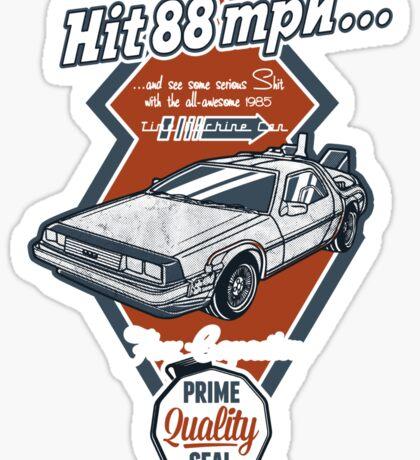 Time Machine Car Sticker