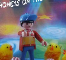 Chicks and honeys on the dancefloor Sticker