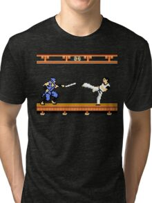 Ninjutsu vs. Kung Fu Tri-blend T-Shirt
