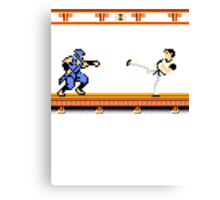 Ninjutsu vs. Kung Fu Canvas Print