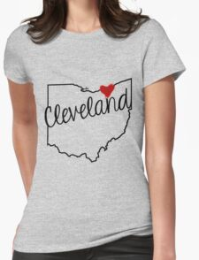 Heart Cleveland Womens Fitted T-Shirt