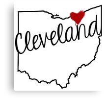 Heart Cleveland Canvas Print