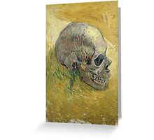 Vincent Van Gogh - Skull.  portrait skull: skeletal, skeleton, smoking, teeth, mouth, skull, remains, ash, head, fantasy , death Greeting Card