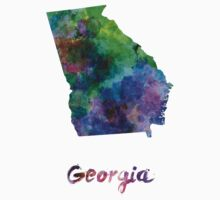 Georgia US state in watercolor Kids Clothes