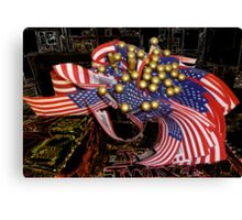 Flags In The Store Canvas Print