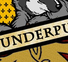 Thunderpuff Crest (Hufflepuff/Thunderbird mix) Sticker