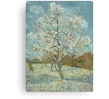 Vincent Van Gogh - The Pink Peach Tree. Garden landscape: garden view, trees and flowers, blossom, nature, botanical park, floral flora, wonderful flowers, plants, cute plant, garden, flower Canvas Print