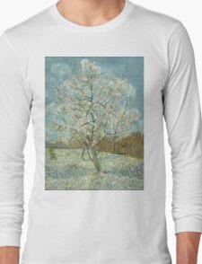 Vincent Van Gogh - The Pink Peach Tree. Garden landscape: garden view, trees and flowers, blossom, nature, botanical park, floral flora, wonderful flowers, plants, cute plant, garden, flower Long Sleeve T-Shirt