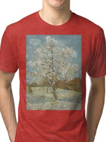 Vincent Van Gogh - The Pink Peach Tree. Garden landscape: garden view, trees and flowers, blossom, nature, botanical park, floral flora, wonderful flowers, plants, cute plant, garden, flower Tri-blend T-Shirt