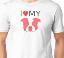 I Love My Staffordshire Bull Terrier Unisex T-Shirt