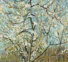 Vincent Van Gogh - The Pink Peach Tree. Garden landscape: garden view, trees and flowers, blossom, nature, botanical park, floral flora, wonderful flowers, plants, cute plant, garden, flower Sticker