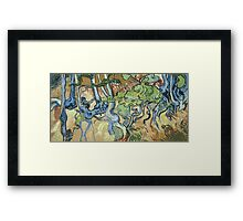 Vincent Van Gogh - Tree-Roots. Garden landscape: garden view, trees and flowers, blossom, nature, botanical park, floral flora, wonderful flowers, plants, cute plant, garden, flower Framed Print