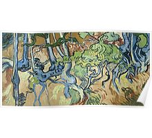 Vincent Van Gogh - Tree-Roots. Garden landscape: garden view, trees and flowers, blossom, nature, botanical park, floral flora, wonderful flowers, plants, cute plant, garden, flower Poster