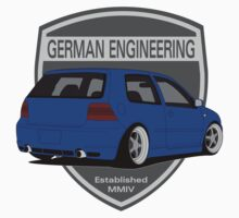 German Engineering -Blue by VolkWear