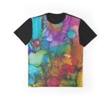 Bright Abstract Floral Graphic T-Shirt