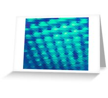 Modern Fashion Abstract Color Pattern in Blue / Green Greeting Card