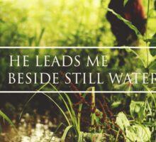 He leads me beside still waters Sticker