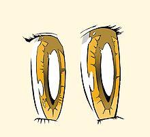 Gold Anime Eyes by Brendan Coyle