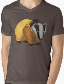 Mr Badger Mens V-Neck T-Shirt