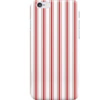 Mattress Ticking Wide Striped Pattern in Red and White iPhone Case/Skin