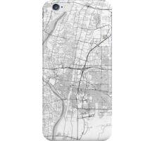 Albuquerque Map Line iPhone Case/Skin