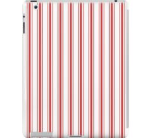 Mattress Ticking Wide Striped Pattern in Red and White iPad Case/Skin