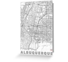 Albuquerque Map Line Greeting Card