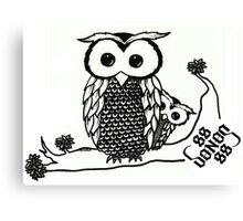 Owl and Owlet Canvas Print