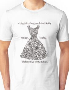 The Vintage Dress - Proverbs 31:25 Unisex T-Shirt
