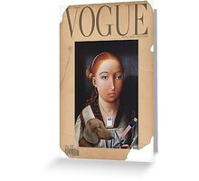 vintage vogue Greeting Card