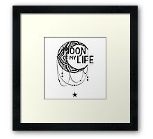 Moon Of Life: Ink Framed Print