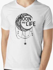 Moon Of Life: Ink Mens V-Neck T-Shirt
