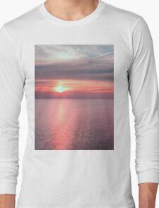 Norfolk summer sunset Long Sleeve T-Shirt