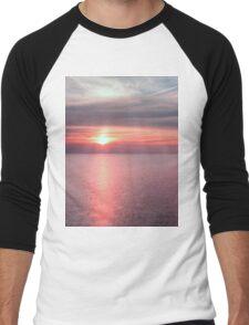 Norfolk summer sunset Men's Baseball ¾ T-Shirt