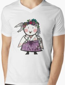 Taisho Kuma Mens V-Neck T-Shirt