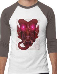 Pink-Eyed Dragon Men's Baseball ¾ T-Shirt