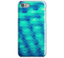 Modern Fashion Abstract Color Pattern in Blue / Green iPhone Case/Skin