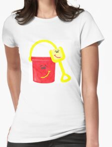 Shovel & Pail Womens Fitted T-Shirt