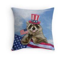 Thank You Raccoon Throw Pillow