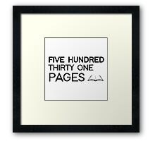 531 PAGES (black) - LDStreetwear Framed Print